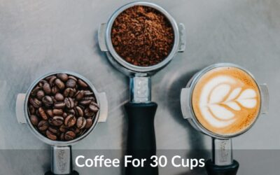 How Much Coffee for 30 Cups? Guidelines by Expert!