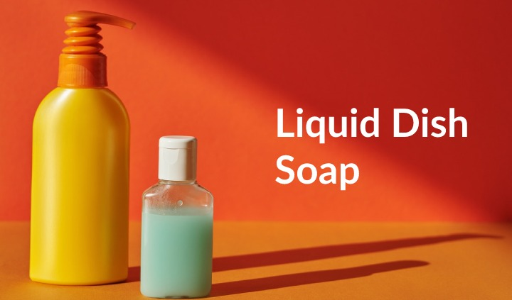 clean coffee maker with Liquid Dish Soap