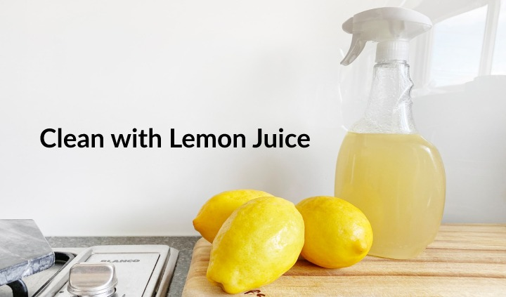 remove coffee stain from cup with lemon juice